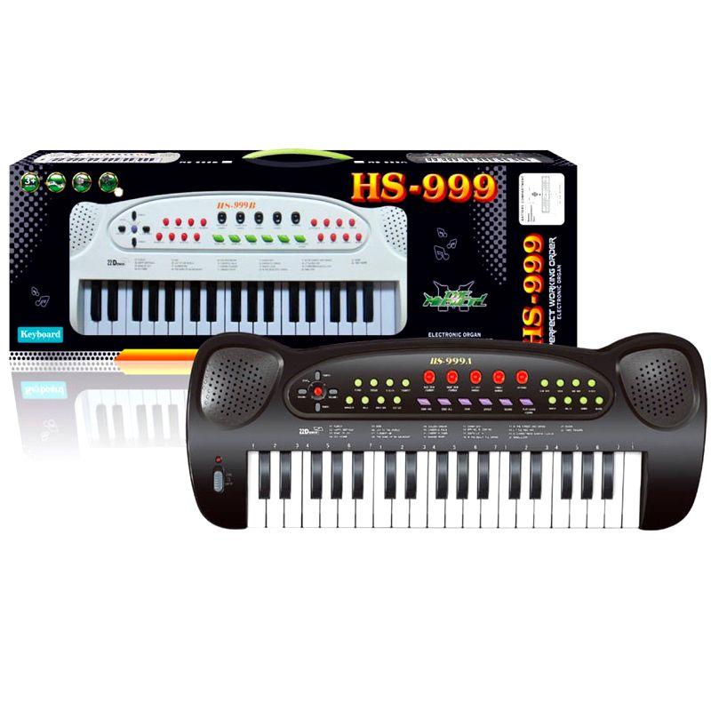 Teclado Eletrônico Infantil Para Iniciantes com Muitos Recursos Demos e Gravação