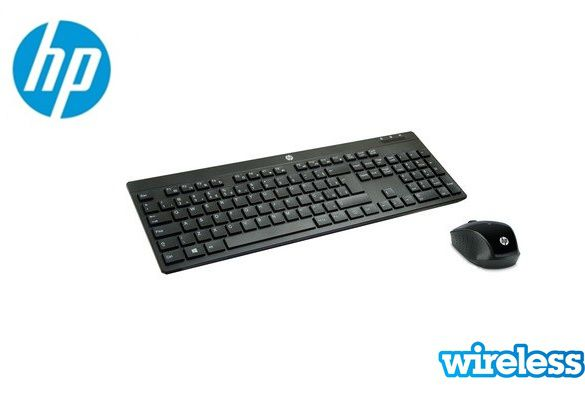 Kit Teclado + Mouse HP AC Wireless Sem fio C200 Slim