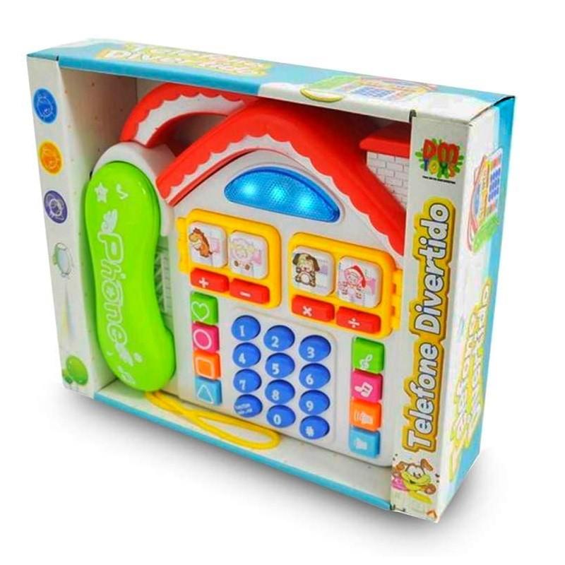 Telefone Infantil Educativo Casa em Português com Músicas Jogo e Sons de bichos