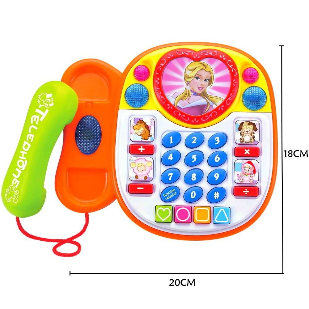 Telefone Infantil Educativo Princesa em Português com Músicas Jogo e Sons de bichos