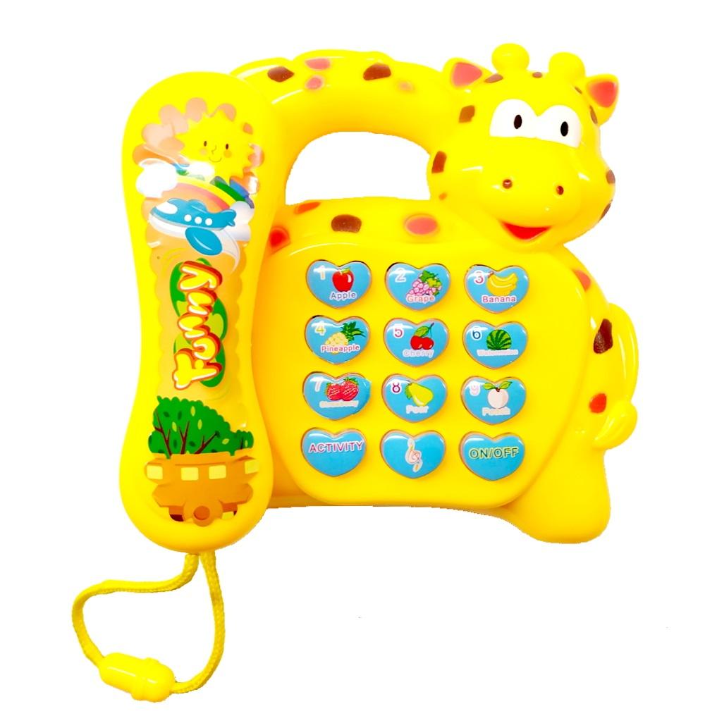 Telefone Musical de Girafa Bebê Brinquedo Piano Infantil