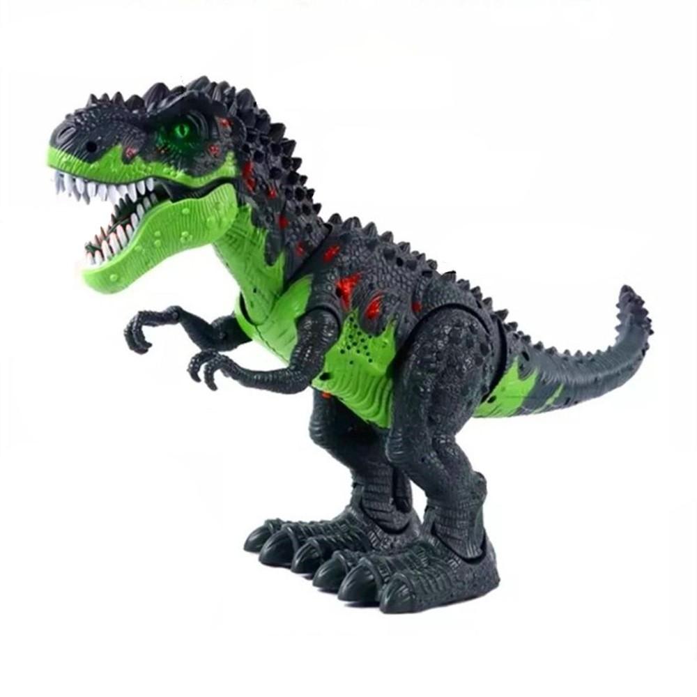 Tiranossauro Rex Do Valley Anda com Som Projeção Luz e Bota Ovo Verde