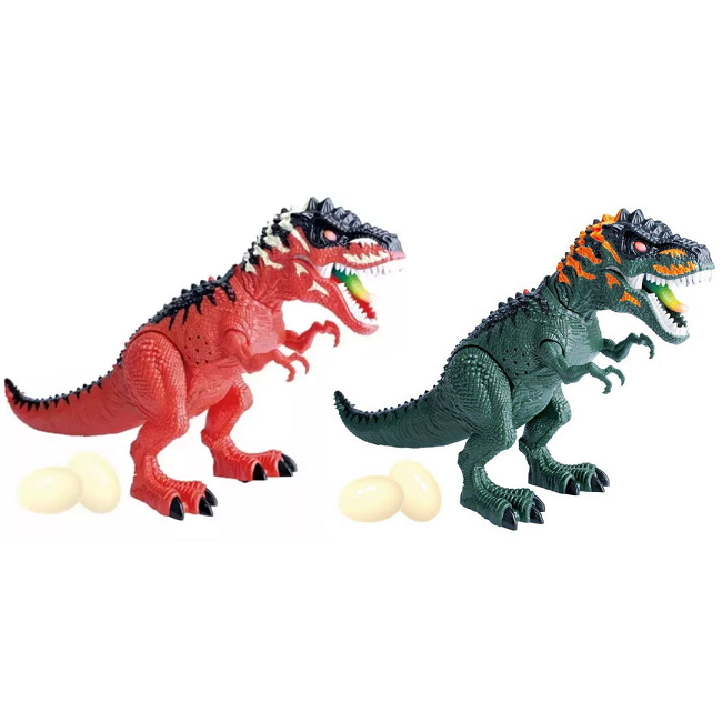 Tiranossauro Rex Realista de 35cm que Anda Bota Ovo Realista