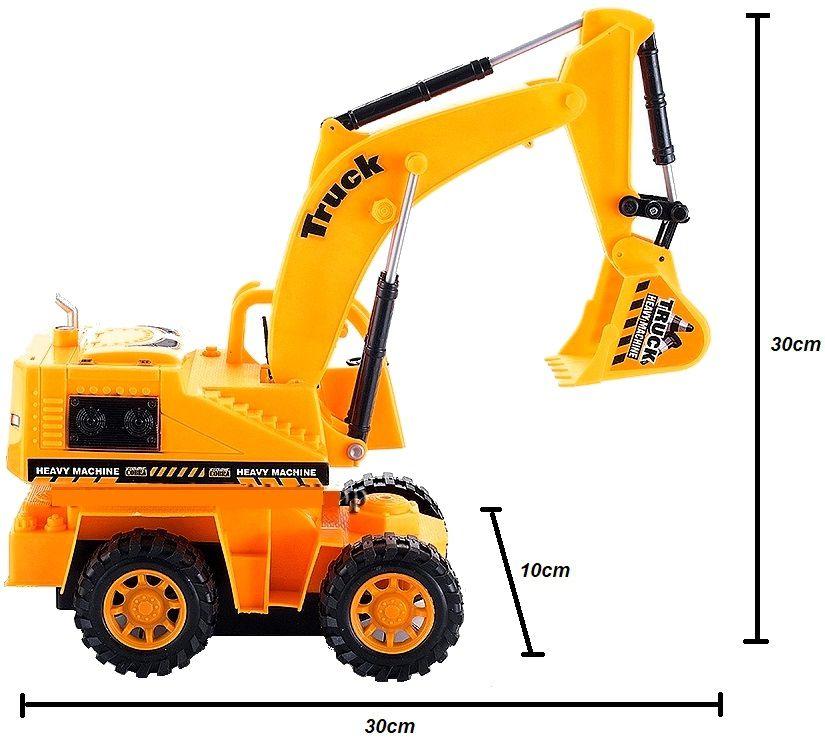 Trator Escavadeira de Controle Emoto 5 Canais RC Trucking