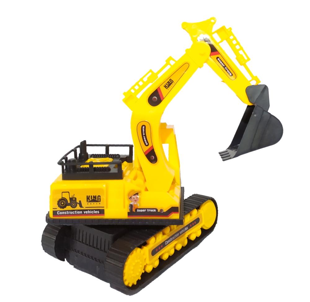 Trator Escavadeira de Fricção Série Máquinas Pesadas - Amarela