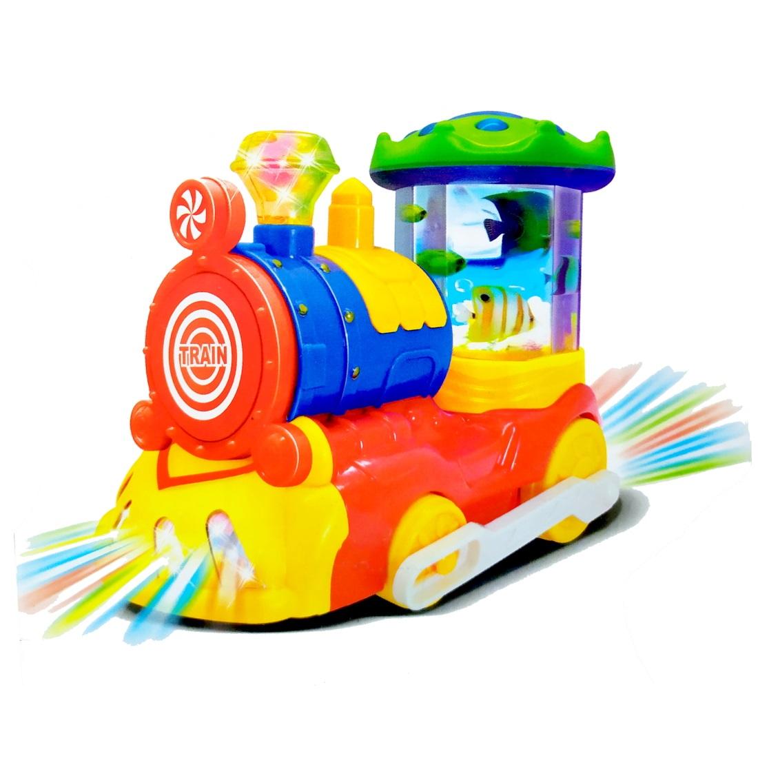 Trem Musical Baby Brinquedo Infantil com Luzes e Sons
