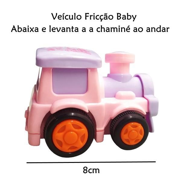 Trenzinho de Fricção Divertido Baby Rosa