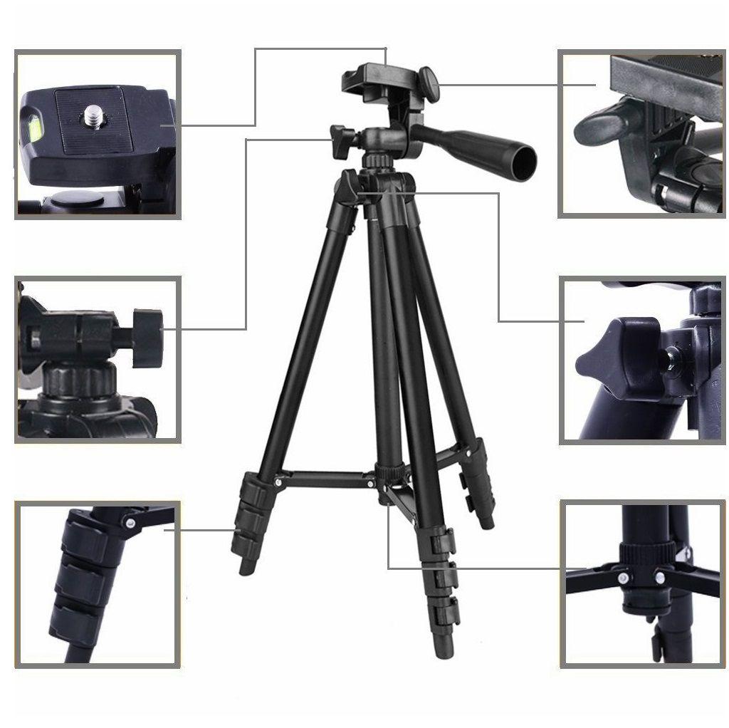 Tripé Alumínio Celular e Câmeras Profissionais Vídeos e Fotos