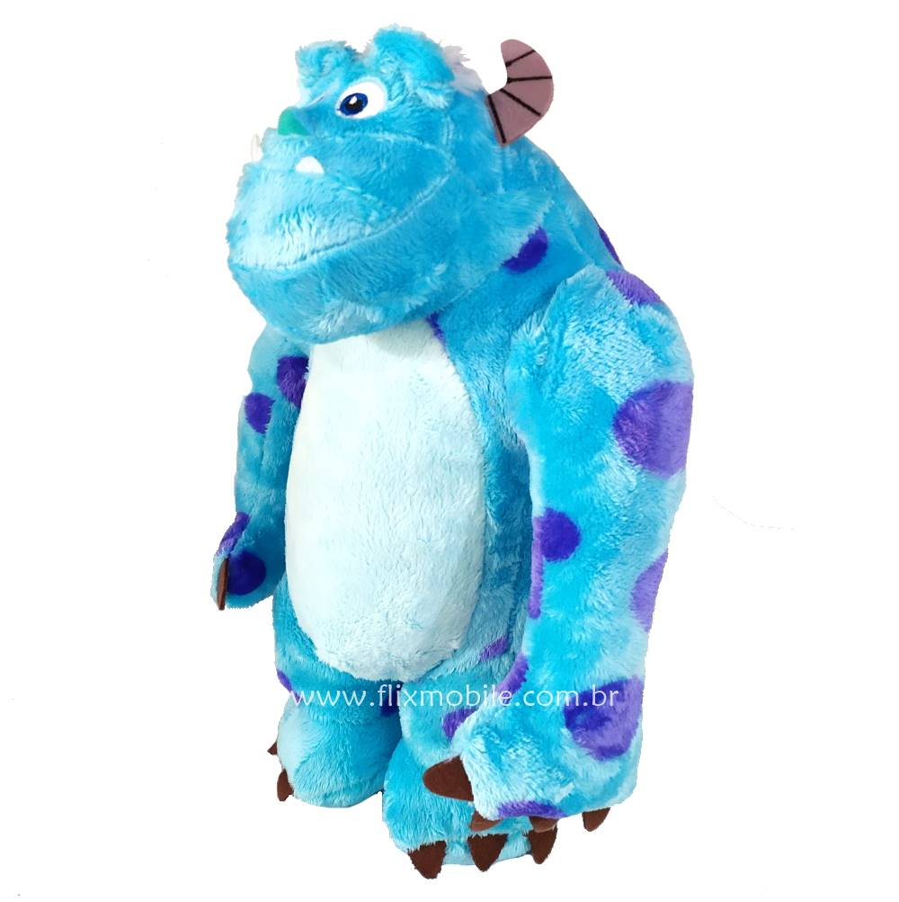 Urso de Pelúcia Monstros S A Sulley com Som Três falas em Português Disney