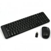 Kit Teclado e Mouse Logitech Wireless Multimidia Mk220 Preto