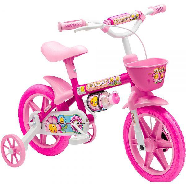 Bicicleta Infantil Menina Aro 12 Flower - Nathor