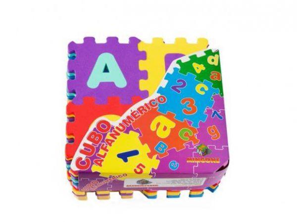 Cubo Alfanumérico 40 Peças 9x9 Cores Sortidas - Mingone