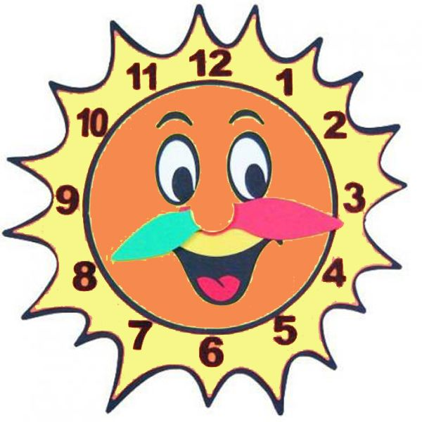 Painel de E.V.A Escolar/Decoração - Sol relógio