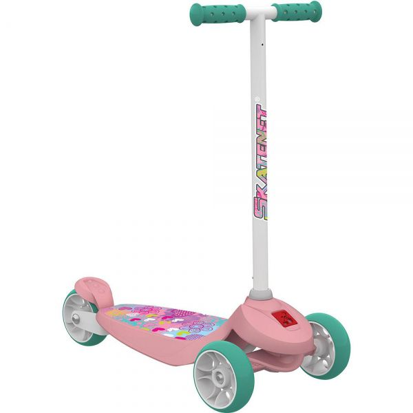 Patinete Skatenet Kid Flower Rosa - Bandeirante
