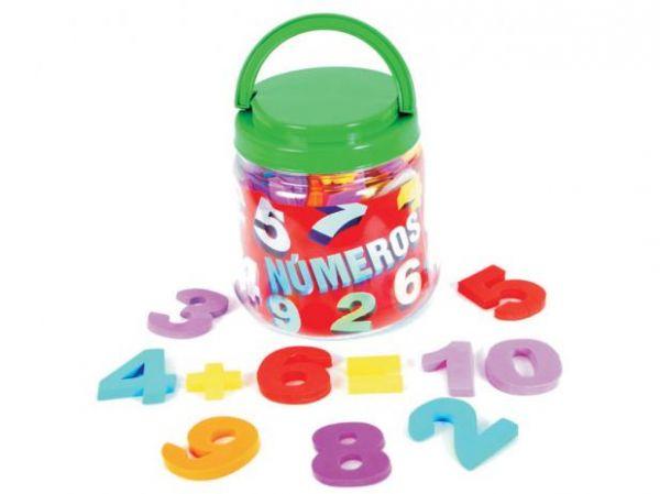 Pote de Número Mingone 50 peças 5cm