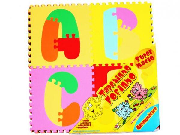 Tapete Tatame Alfabeto Colorido 36 peças 18x18 Mingone