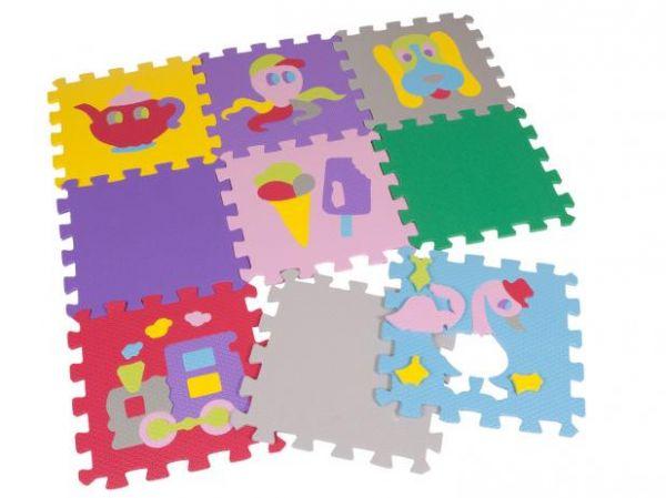 Tapete Tatame de Atividades Diversos Desenhos 9 peças 30x30x0,8mm