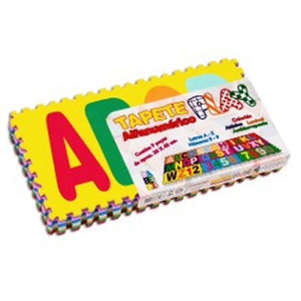 Tapete Tatame de Atividades Play Alfanumérico 9 peças 20x40cm