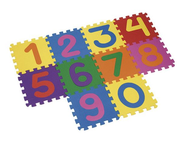 Tapete Tatame Números Colorido 30x30x10mm Mingone