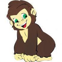 Painel de E.V.A Escolar/Decoração - Macaco
