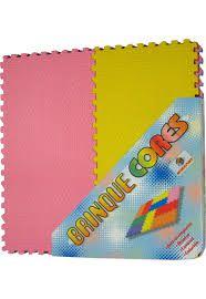 Tapete Tatame Brinquecores  12 peças 20x40 cm 8mm Colorido