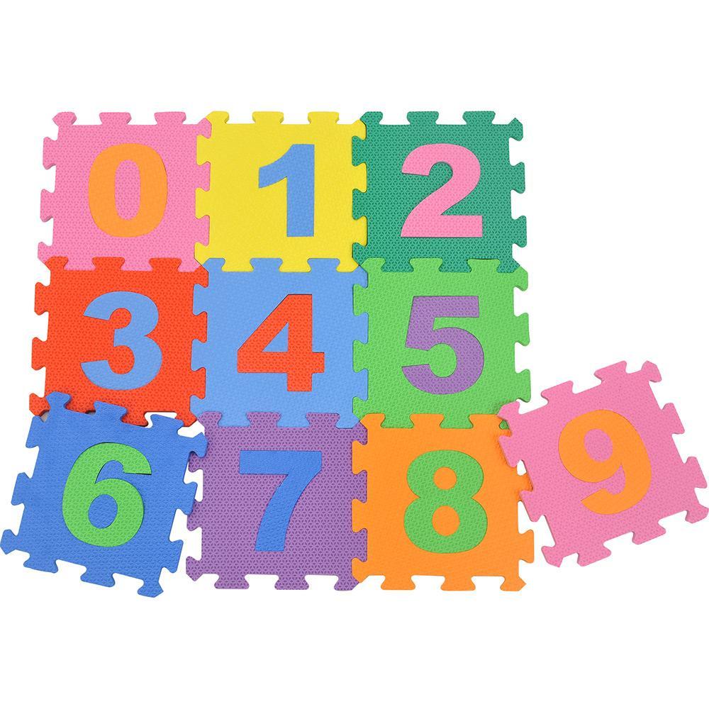 Tapete Tatame Números Colorido 28X28x10mm Evamax