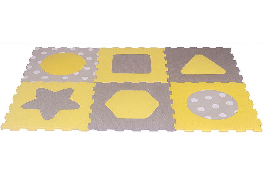 Tapete Tatame Texturizado Cores Pastéis 6 Peças 39x39x1cm
