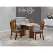 Conjunto Sala de Jantar Mesa com Tampo de Vidro Urca e 4 Cadeiras Spazzio - Sonetto
