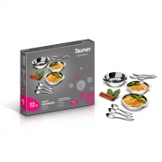 Conjunto Sobremesa 12pç Inox Versatile - Taumer