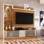 "Estante Home Theater 2 Portas LED para TV 55"" Frizz Prime Naturale/Off-White - Madetec"