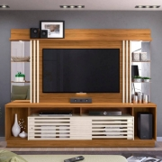 "Home Theater para TV 55"" Frizz Gold Naturale/Off-White - Madetec"