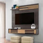 Painel Home para TV até 55 Polegadas Frizz Sublime Titânio/Carvalho - Madetec