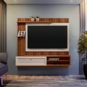 Painel Home para TV Até 55 Polegadas Tocantins Freijó/Off-White - Línea Brasil