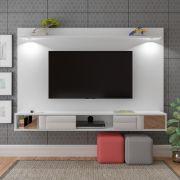 Painel para Tv Até 60 Polegadas Platinum Com Led Branco Artely