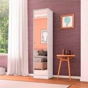 Sapateira Multiuso 1 Porta Com Espelho Reflex Branco - Demóbile
