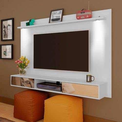 Painel para Tv Até 55 Polegadas Platinum Branco Com Led Artely