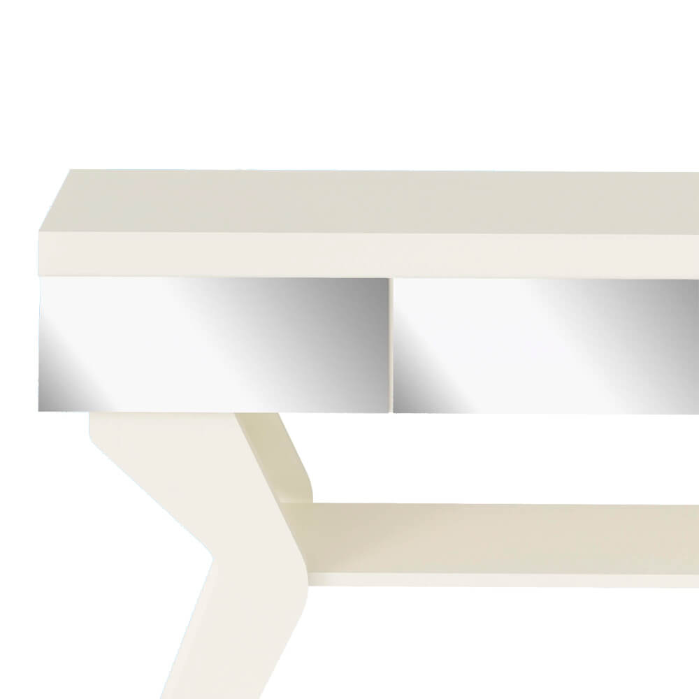 Aparador para Sala com Espelho 1 Prateleira Houston Off-White - Artely