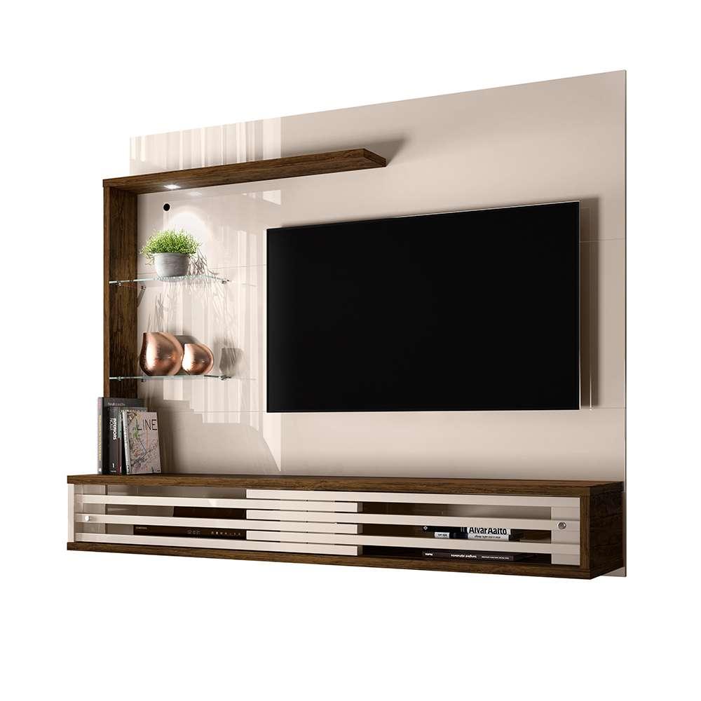 """Painel para TV até 50"""" Frizz Select Off-White/Savana - Madetec"""