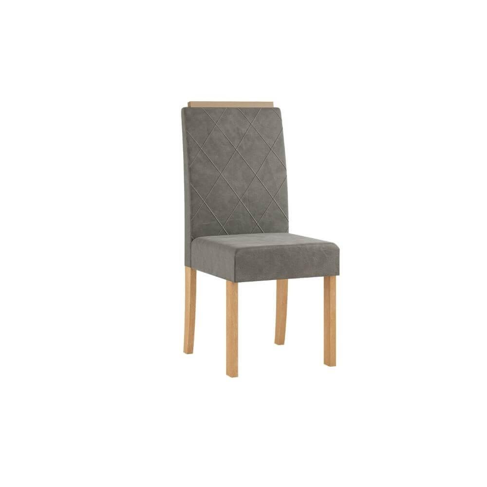 Conjunto Sala de Jantar Mesa com Tampo de Vidro Redonda e 4 Cadeiras Styllo - Sonetto