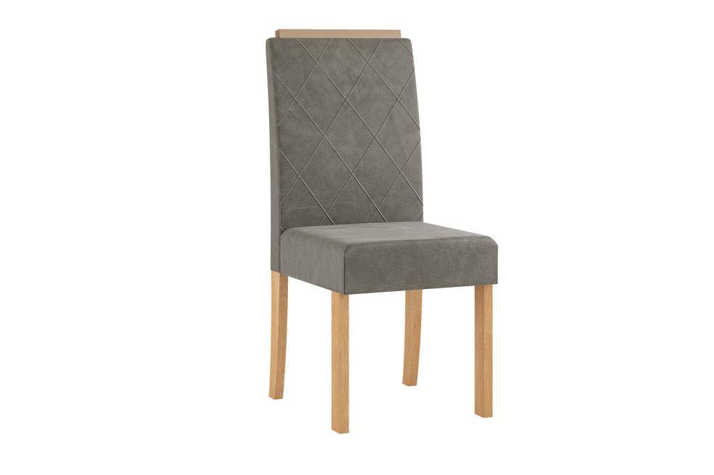 Conjunto Sala de Jantar Mesa com Tampo de Vidro Redonda e 4 Cadeiras Styllo Sonetto Móveis