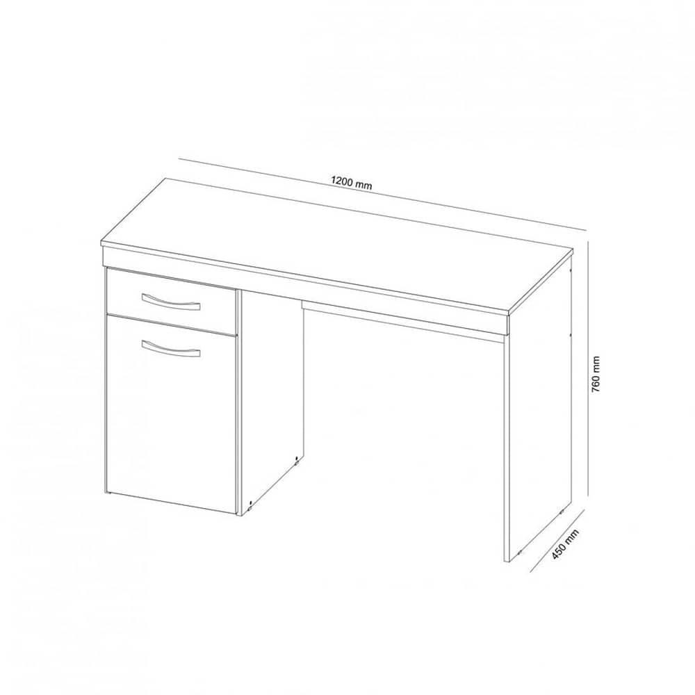 Escrivaninha 1 Porta e 1 Gaveta Vitória Branco - Demóbile