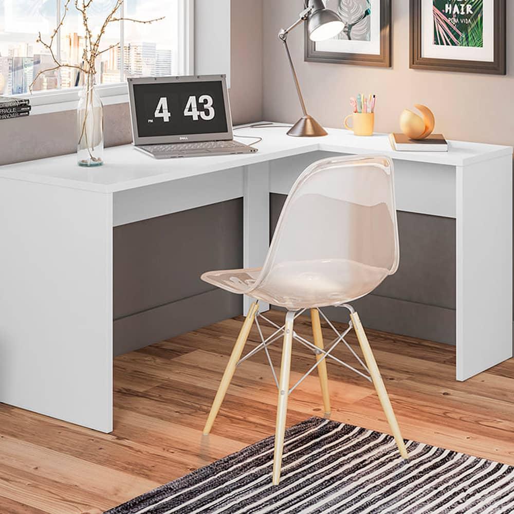 Escrivaninha de Canto Office Presence 29400 Branco - Demóbile