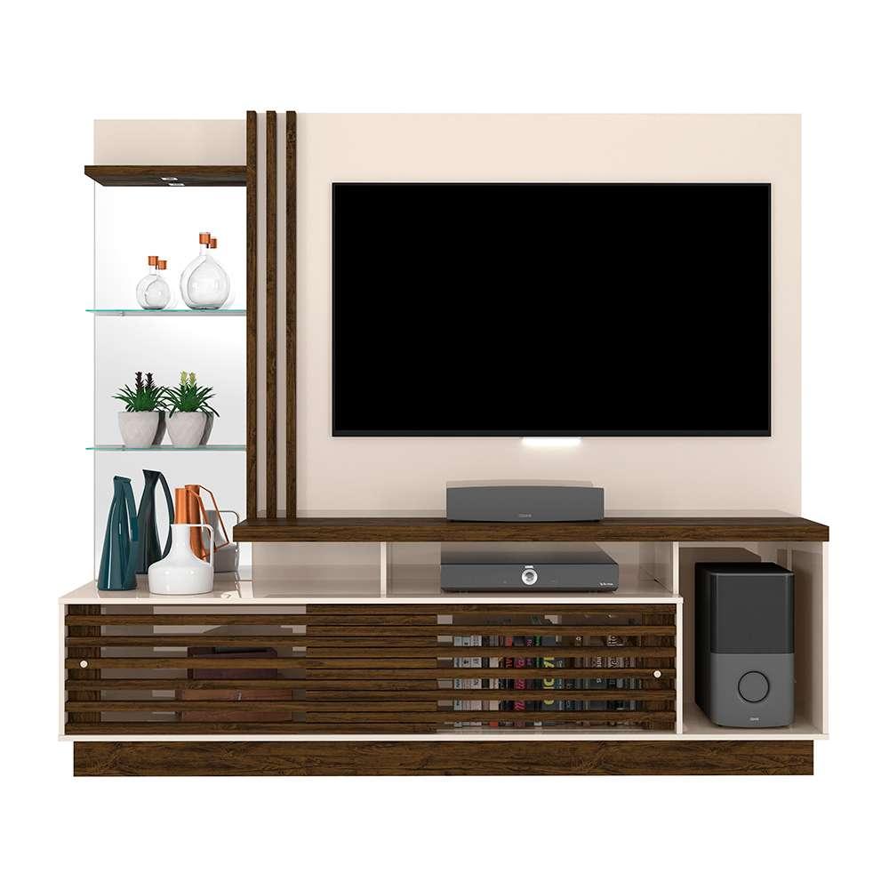"""Estante Home para TV 60"""" Frizz Plus Off-White/Savana - Madetec"""