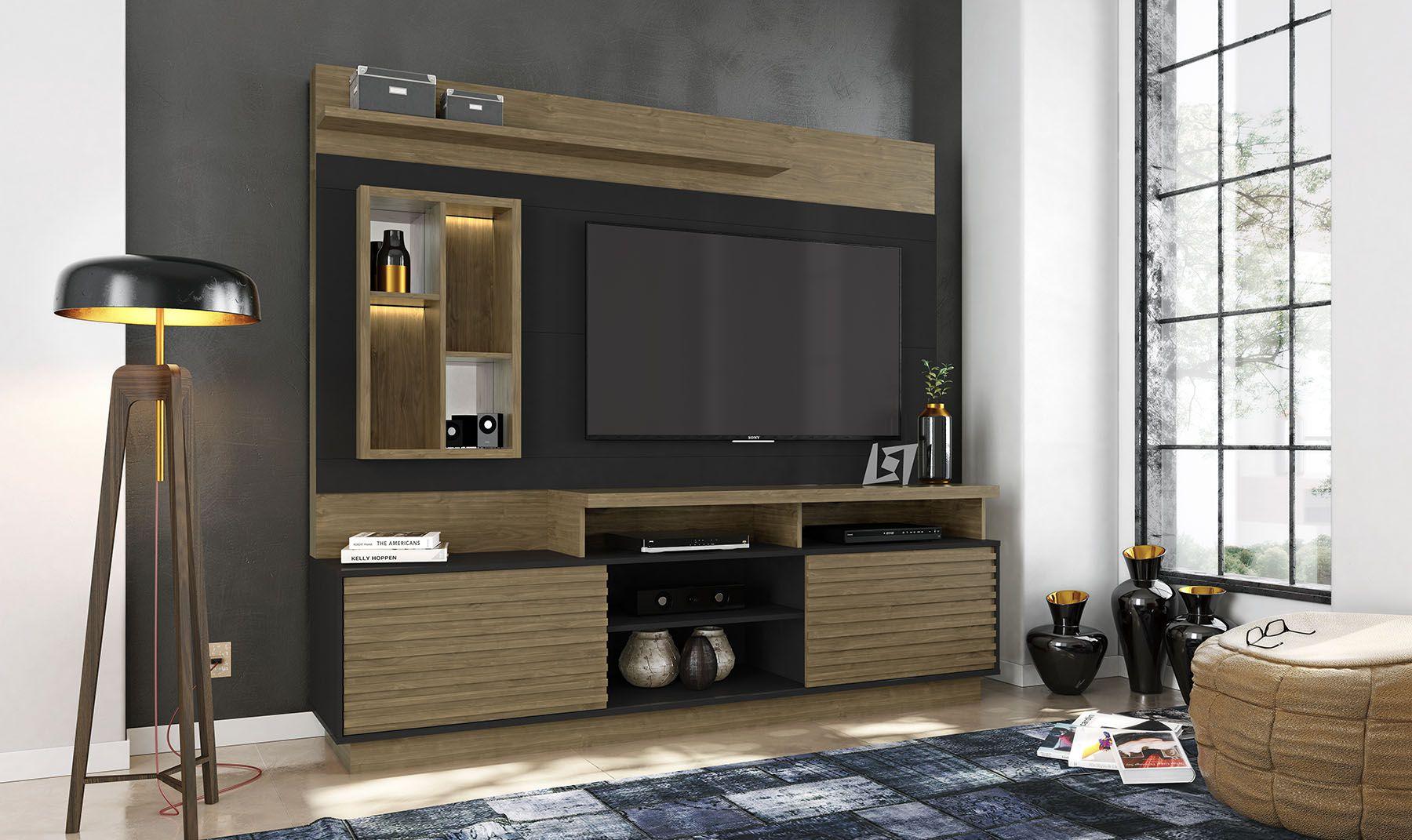 Estante Home Para Tv Até 65 Polegadas com LED Eldorado Linea Brasil
