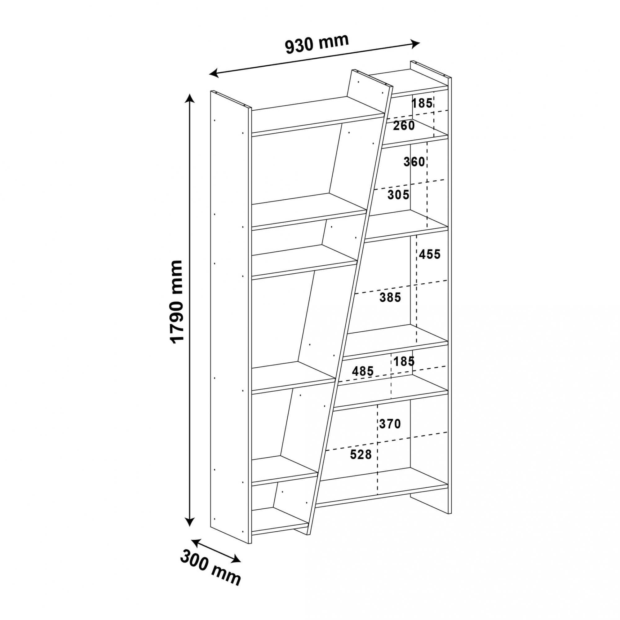 Estante Para Livros Multiuso 10 Nichos Zap Branco - Artely
