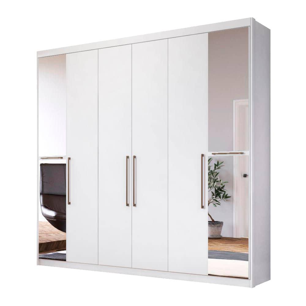 Guarda-Roupa Casal com Espelho 6 Portas New Metrópole Branco - Demóbile