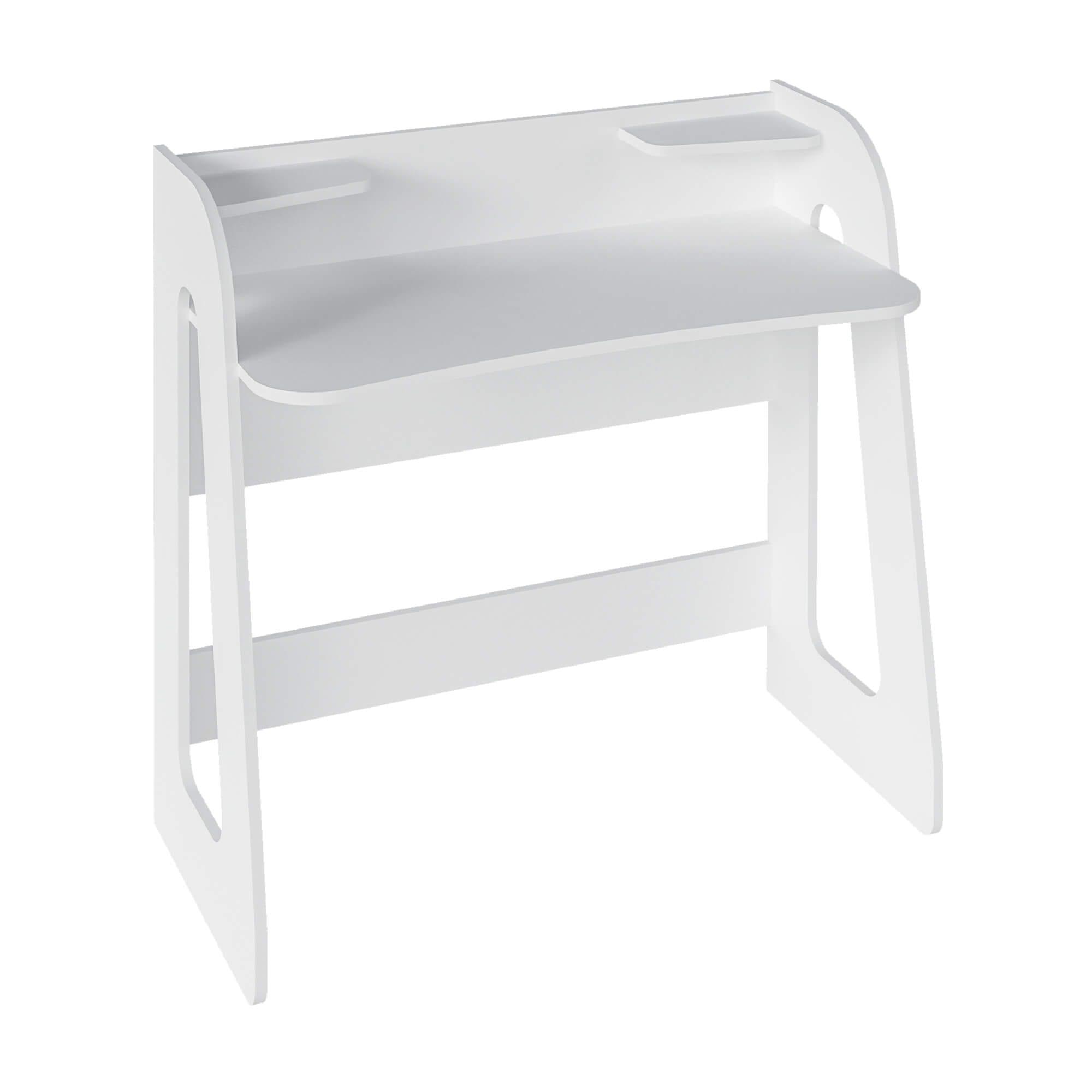 Mesa Escrivaninha 2 Prateleiras Cyber Branco - Artely