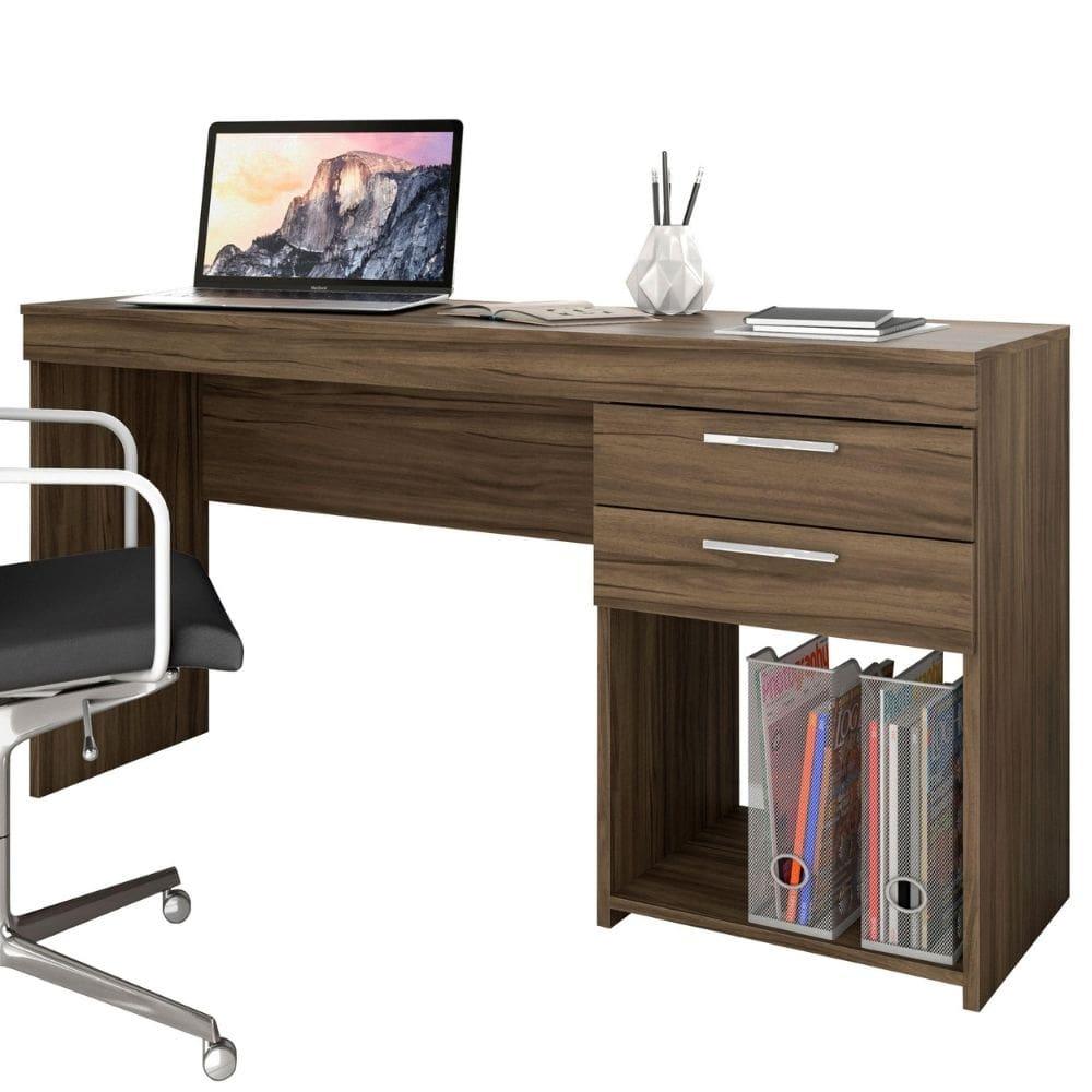 Mesa Office 2 Gavetas 51015 Nogal Trend - Notável