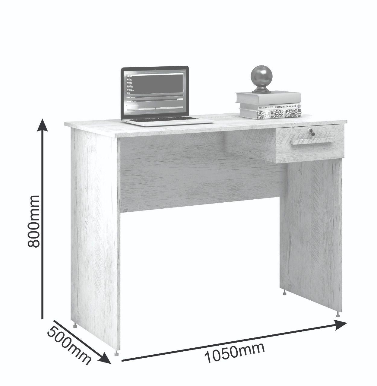 Mesa Para Computador 1 Gaveta Hanna Móveis Borsari