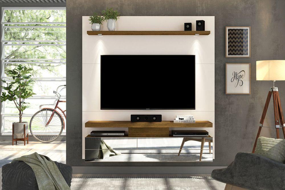 Painel Home Para Tv Até 60 Polegadas Luce Off White Demolição Dj Móveis